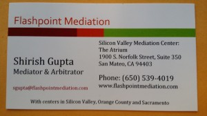 Shirish Gupta's Photographed Business Card
